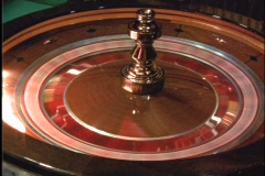 Stock Video Footage of Roulette wheel ball lights 1