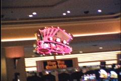Timelapse walk through casino floor Stock Footage
