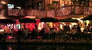 Stock Video Footage of San Antonio riverwalk close night M HD