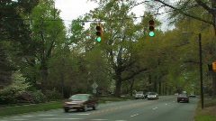 Tree-lined street, Anytown, USA Stock Footage