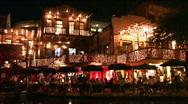 San Antonio riverwalk dinning night M HD Stock Footage