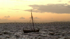 Small fishing boat Stock Footage