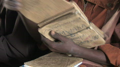 Man goes back to school in Rwanda, Africa Stock Footage