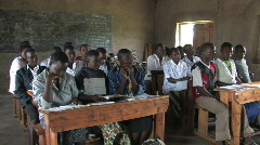 Students attend school in Rwanda, Africa Stock Footage