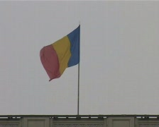 Romanian Flag Stock Footage