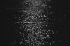 Moonlight reflected in the sea   - stock footage