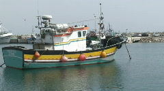 Colorful Fishing boats Stock Footage