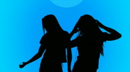 Lively Teenage Dancing Stock Footage