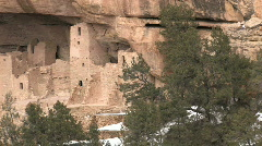 Mesa Verde Cliff Palace close pan left P HD Stock Footage