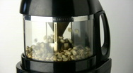 Stock Video Footage of Coffee Bean Roaster Starting