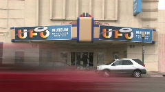UFO Museum Roswell NM front close TL fast P HD Stock Footage