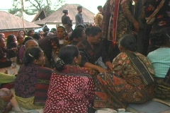 Women sitting at funeral - stock footage
