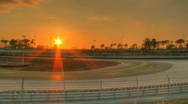 Stock Video Footage of Sunset over circuit time lapse