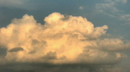 Stock Video Footage of Storm clouds time lapse clip