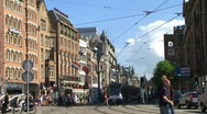 Stock Video Footage of Intersection in Amsterdam