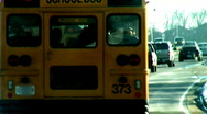 Stock Video Footage of school buses stylized