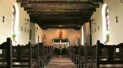 Mission Espada inside altar zoom in P HD Stock Footage