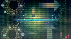 Abstract disco/music theme with various background effects. HD 1080i. 14 seconds Stock Footage