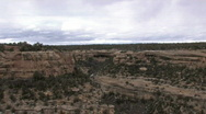 Stock Video Footage of Mesa Verde cliff Cliff Palace Indian historical ruins zoom in P HD