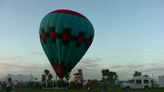 Balloon liftoff Stock Footage