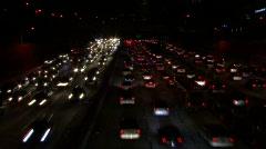 LA freeway Stock Footage