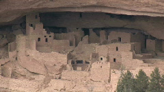 Mesa Verde cliff Cliff Palace  zoom out - stock footage