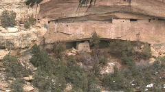 Mesa Verde cliff dwelling P HD Stock Footage