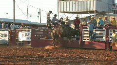 Rodeo bull ride spin M HD Stock Footage