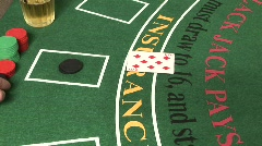 Blackjack - Player Busts #1 - stock footage