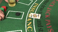 Blackjack - Player Busts #2 - stock footage