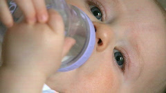 Infant Male (6 month old) with bottle (1 of 3) Stock Footage