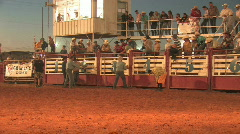 Rodeo Bull rider full spin night M HD - stock footage