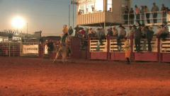 Rodeo Bull rider dummy hit 3 M HD Stock Footage