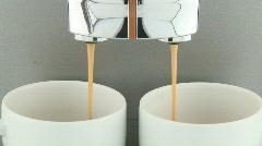 Coffee machine close Stock Footage