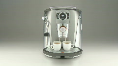 Stylish coffee percolator Stock Footage
