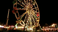 Carnival ferris wheel rides night M HD - stock footage