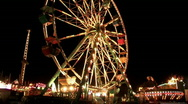 Carnival ferris wheel rides night M HD Stock Footage