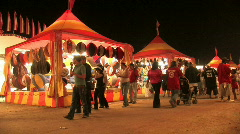 Carnival night people fun and excitement M HD Stock Footage