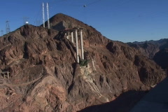 Hoover Dam Bypass bridge truss super structure initial phase 2008 Stock Footage
