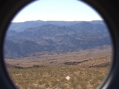 Stock Video Footage of A spyglass view of the desert above the Colorado River