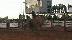 Bull rider slow motion M HD Stock Footage