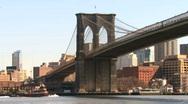 Stock Video Footage of Brooklyn Bridge 02