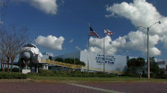 Astronaut hall of fame Stock Footage