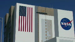 Vehicle Assembly building Kennedy Space Center Stock Footage