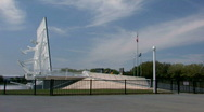Stock Video Footage of Astronaut memorial