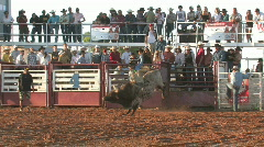 Bull rider rodeo slow M HD Stock Footage