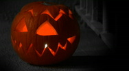 Stock Video Footage of Spooky Halloween Jack O Lantern