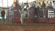 Stock Video Footage of Rodeo bull riding thrown rural championship contest M HD