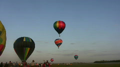 Outdoor balloon race Stock Footage