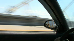 Drive Across The SkyWay Stock Footage